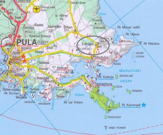 Térkép Liznjan